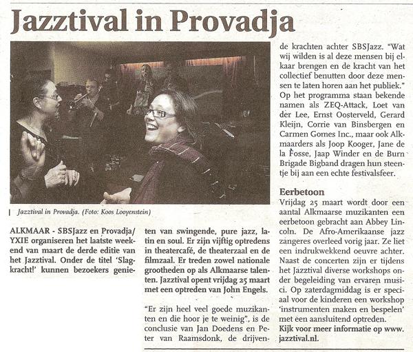 Alkmaars Nieuwsblad, 23 maart 2011