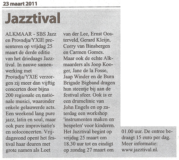 Alkmaars Weekblad, 23 maart 2011