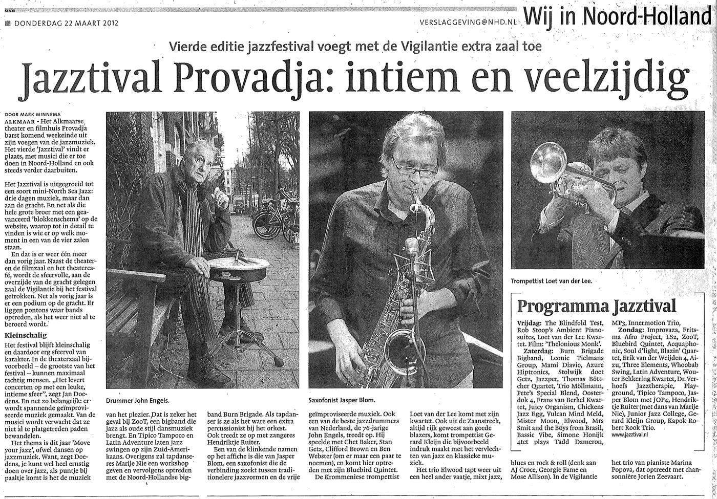 Noordhollands Dagblad, 22 maart 2012
