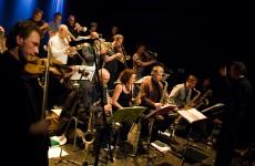 Burn Brigade big band bij Jazztival 2010. Fotograaf: Koos Looyenstein