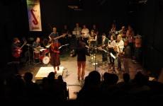 Tapdenseres Marije Nie & Burn Brigade bij Jazztival 2012. Fotograaf: Sander Beerse