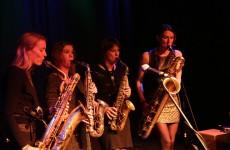 Saxofoonkwartet Double Espresso bij Jazztival 2014. Fotograaf: Sander Beerse