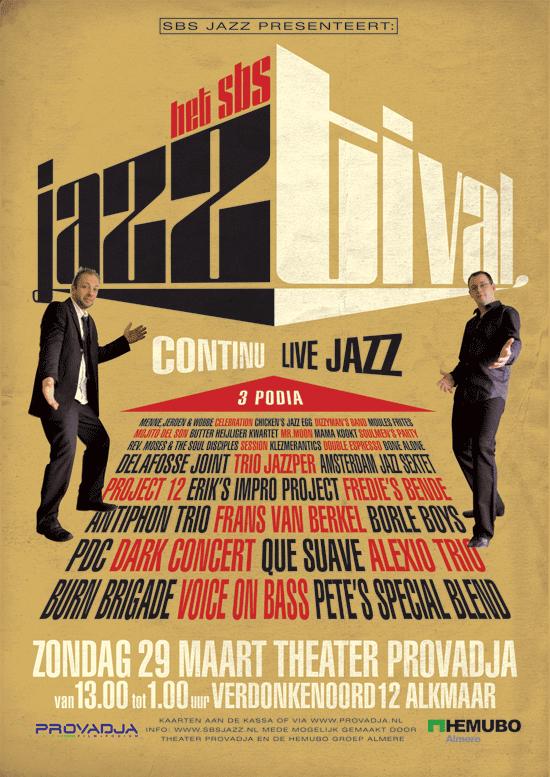 1e editie Jazztival: 'Continu Live Jazz'