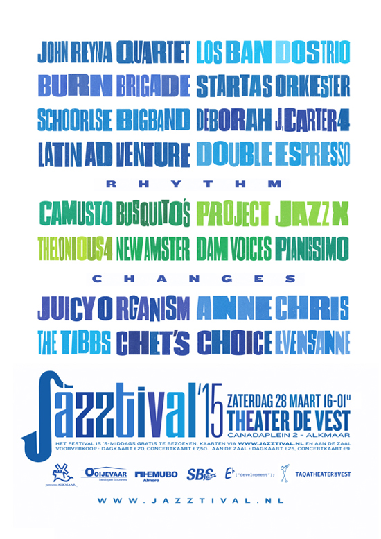 6e editie Jazztival: Rhythm Changes